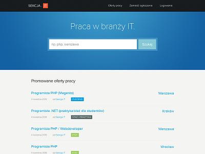 Sekcja It website layout ui page www form list blue sekcja it