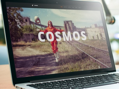 Cosmos wordpress theme design web graphic design