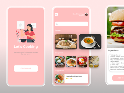 Food Recipe App ux ui