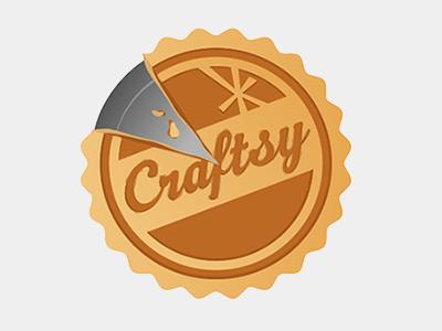 Thanksgiving Logo craftsy thanksgiving logo pie pumpkin nom brown tan