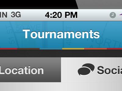 Tournaments Social Screen