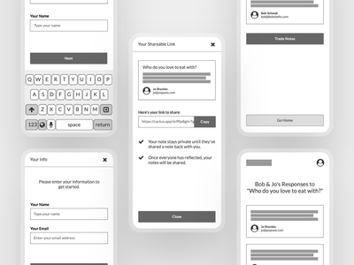 Wireframes for Cactus app interface product concept low fidelity lo-fi balsamiq wip cactus mobile ux design wireframes wireframe