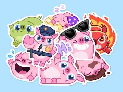NICK WALLOW PIG - Telegram animated stickers piggy pig telegram stickers sticker gif animation cartoon character mishax