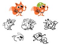 Fox | WIP kidsart cute character design children child kids art kids sketches sketch fox procreate illustration character mishax