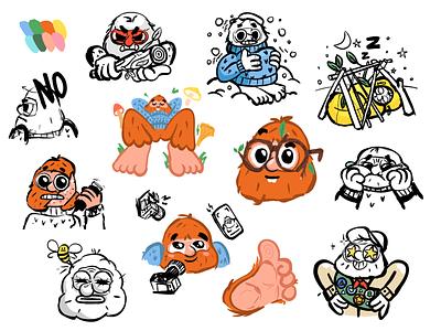Sasquatch | work in progress cartoon procreate characterdesign character wip sketches mishax sasquatch yeti bigfoot