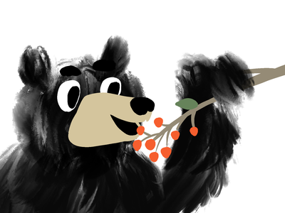 Bear berry childrens book children child kids procreate cartoon draw mishax bearberry berry bear