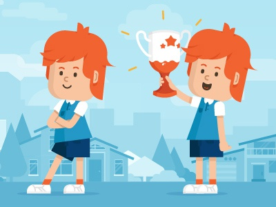 Kinder boy kinder chocolate web character illustrations vector promo