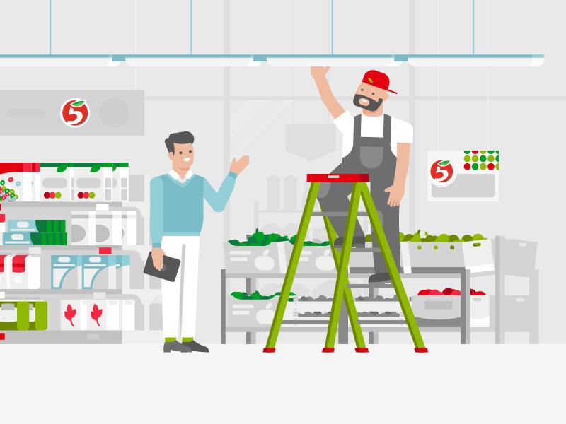 Supervisor fruits staff stairs supervisor food 5ka shopping character mishax 5 supermarket shop