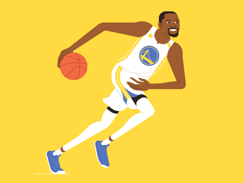 Durant character nba warriors golden state mishax run dribbling basketball ball durant kevin