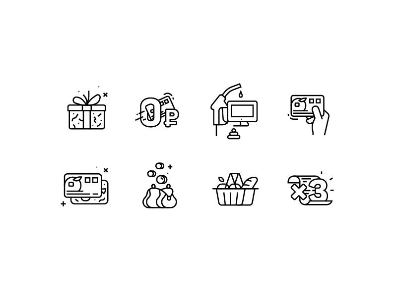 5 icons line mishax