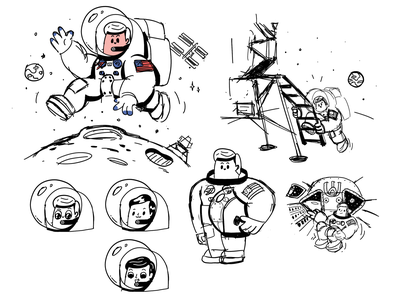 Apollo 11 | WIP nasa moonlanding sketch anniversary moon 50th space armstrong astronaut apollo11 mishax