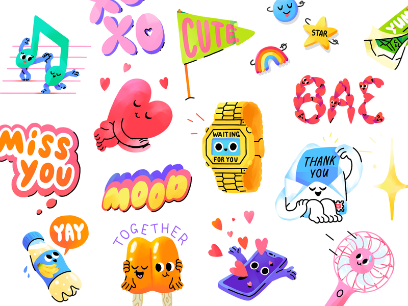 Good Mood Snapchat Stickers illustration stickerpack snap mood good stickers snapchat mishaxgraphic mishax