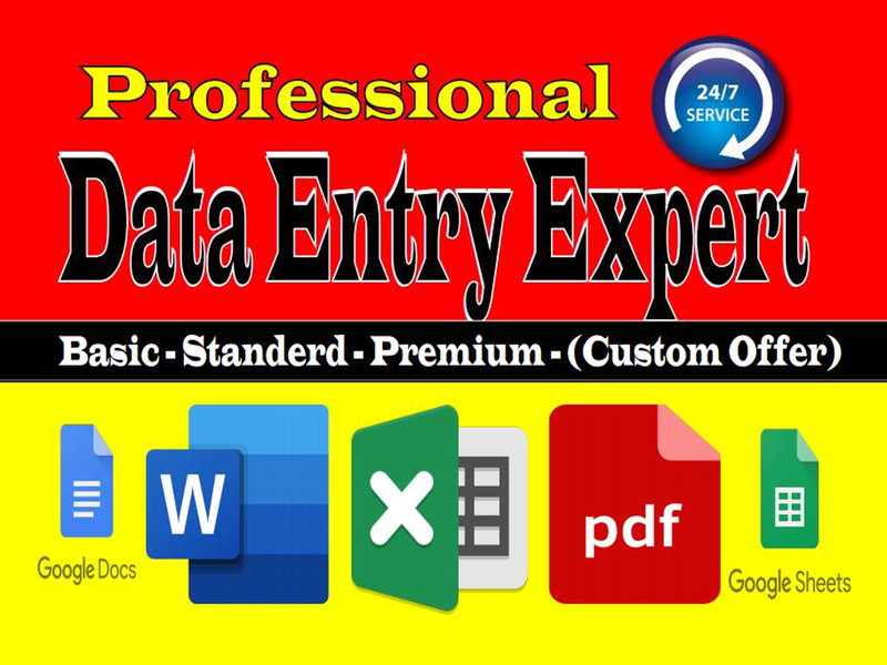Data Entry Expert lead generation pdt to excel pdt to excel typing admin support emailaddress contactlist emaillist googledocs spreadsheets exceldataentry webscraping webresearch datamining dataentry data entry services photoshop