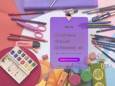 Sign Up Page #dailyui #001 design sign up signup ui