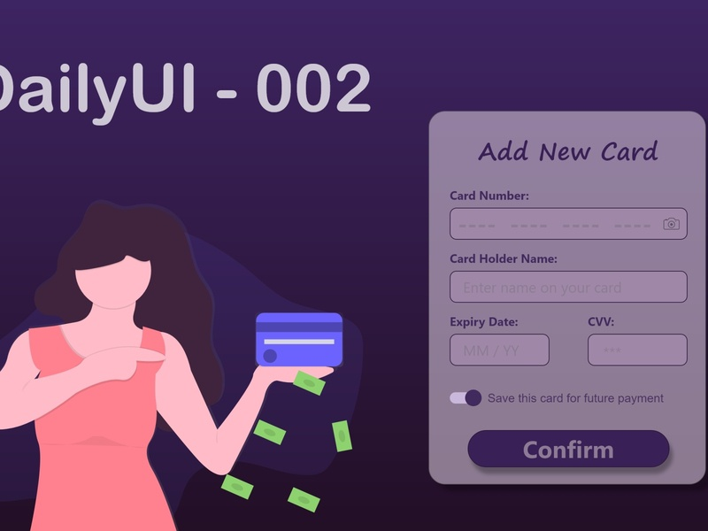 Credit Card Checkout #dailyui #002 credit card checkout ui