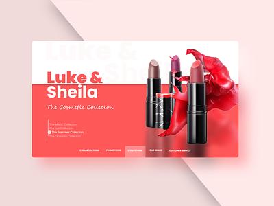 Cosmetics Landing Page Design landing page illustration flat minimal typography website web ux ui design