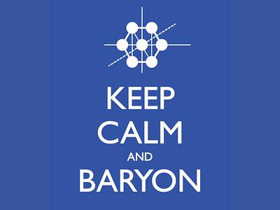 Keep Calm and Baryon vector logo physics graphic design