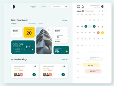 Daily Management System management app dashboard design figma uidesign uxdesign webdesign calendar branding interaction design adobe photoshop adobexd