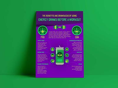 Infographics: Animal Instincts Energy Drink fitness promotion flyer poster energy drink custom illustration infographics logo design illustration health and wellness graphic design brand strategy branding brand identity brand development