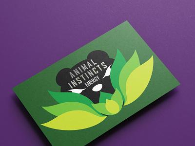 Brand Development: Animal Instincts Energy Business Card vector logo design illustration graphic design brand strategy branding brand identity brand development