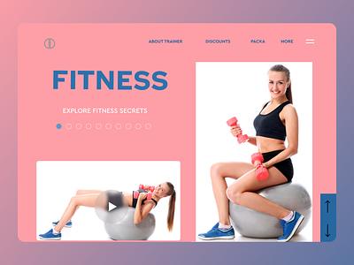 Fitness trainer web design typography minimal website web ux ui design