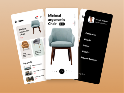 Furniture App nature furniture design furniture app clean ui new ui design uiux branding app minimal art ui ux design