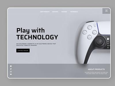 Gaming Web uiux new clean ui minimal website web art ux ui design
