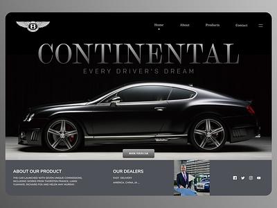 Online Cars branding uiux new clean ui minimal website web ux ui design