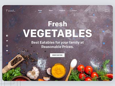 Fresh Vegetables web design designs branding uiux new art website web ux ui design