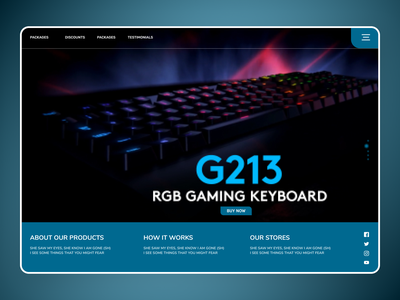 Gaming Keyboards branding clean ui uiux new minimal art website web ux ui design