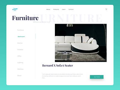 Furniture web Design branding clean ui uiux new minimal website web ux ui design