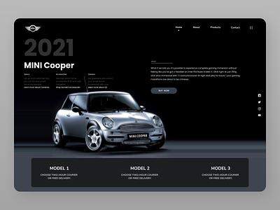 Cars Landing Page designs branding clean ui uiux minimal design website web ux ui