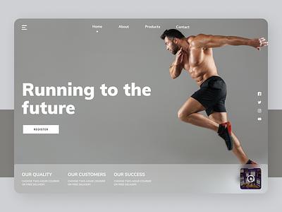 Fitness Trainer designer designs new clean ui uiux website design web ux ui