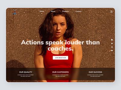 Fitness Coach branding new minimal clean ui uiux website web ux ui design