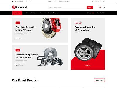 Autoworld - Auto Repair Service Website PSD auto repair car service auto parts transport motion graphics graphic design branding ui logo illustration responsive website design theme