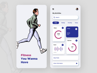 fitness Tracking App app ui design
