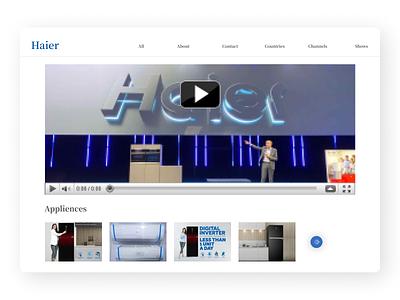 Haier Products branding ui design typography new flat app web ux ui design