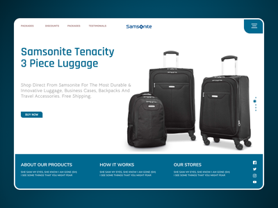 Travelling Bags uidesign modern branding ui design typography new web design ux ui