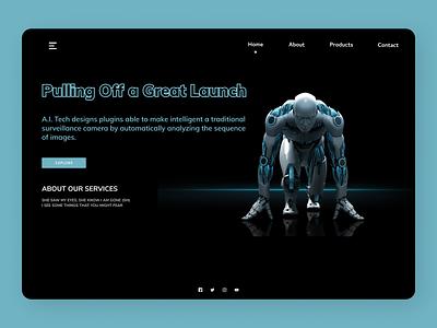 AI Technology Web Design uiux minimal uidesign modern ui design new web ux ui design