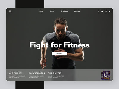 Fitness Trainer uiux modern uidesign ux typography ui design new web design ui