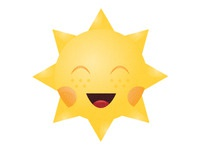 Sun is smiling