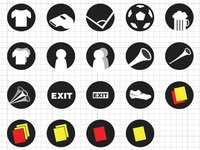 Simple soccer icons
