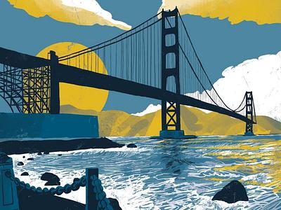 San Francisco! Travel illustration travel nostalgic travel poster illustration