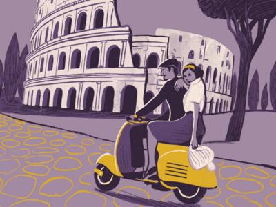 Rome. Nostalgic travel poster illustration travel poster travel illustration travel illustration