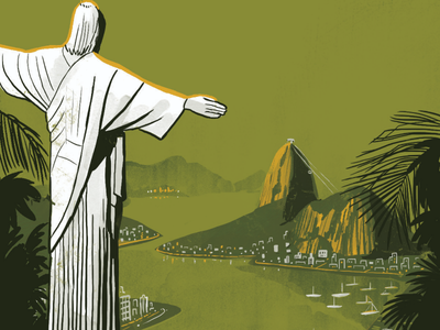 Rio. Nostalgic travel illustration nostalgia nostalgic illustration travel