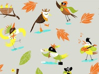 Birds pattern repeat