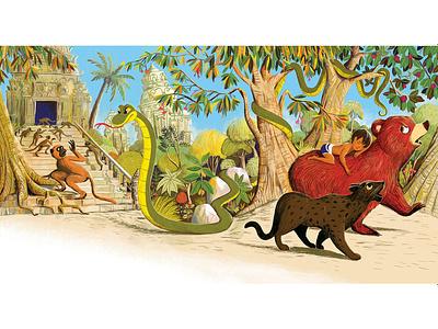 Jungle Book picture book kids book illustration childrens book migy jungle book jungle