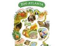 Bridge to the wild Atlanta zoo Map