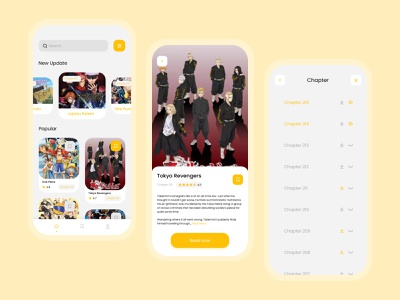 Manga Read App Concept uiux mobiledesign uidesign manga mobile ui