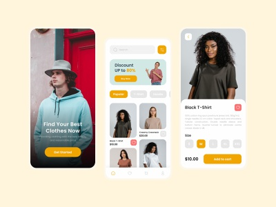 Fashion Store App mobile mobile design uidesign uiux ui